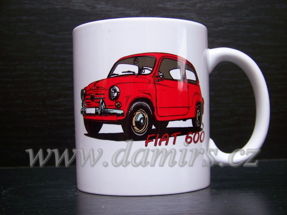 Hrnek s motivem Fiat 600