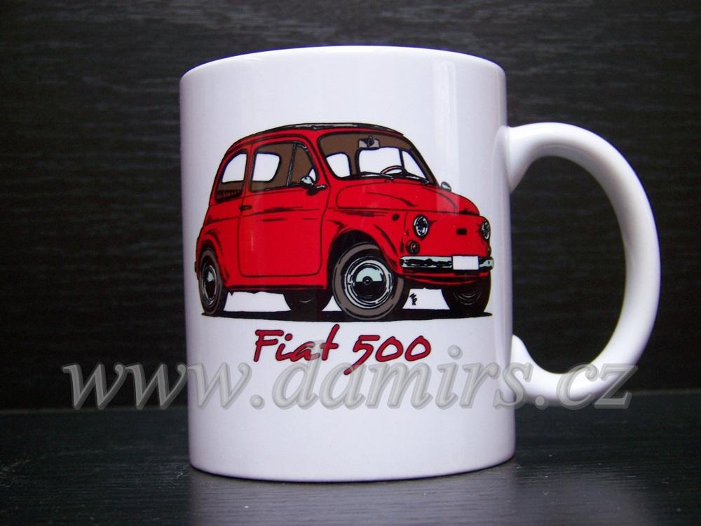 Hrnek s motivem Fiat 500