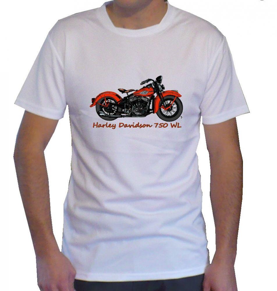 Triko s motivem Harley Davidson 750 WLC WLA