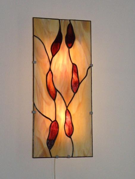 tiffany nástěnná lampa, plochá