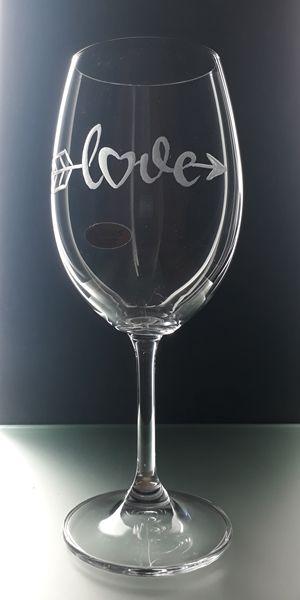 sklenice na víno 450ml, dárek z lásky, dárek k Valentýnu