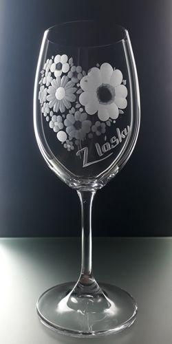 sklenice 1ks na víno 450ml, dárek z lásky, dárek k valentýnu