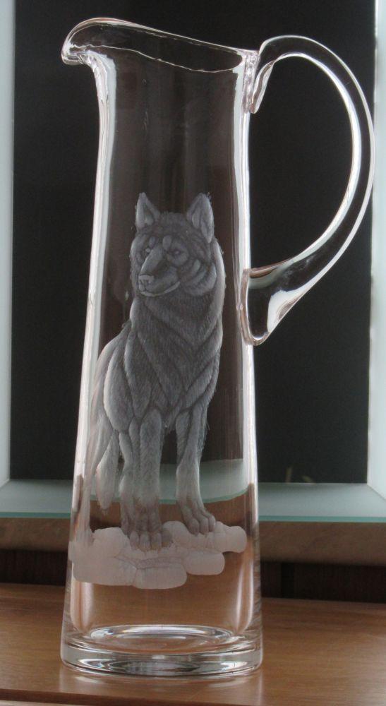 džbán 1,5l s rytinou vlka, dárek pro milovníky přírody