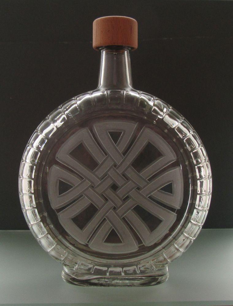 lahev na kořalku 0,7l s keltským uzlem (keltský uzel)