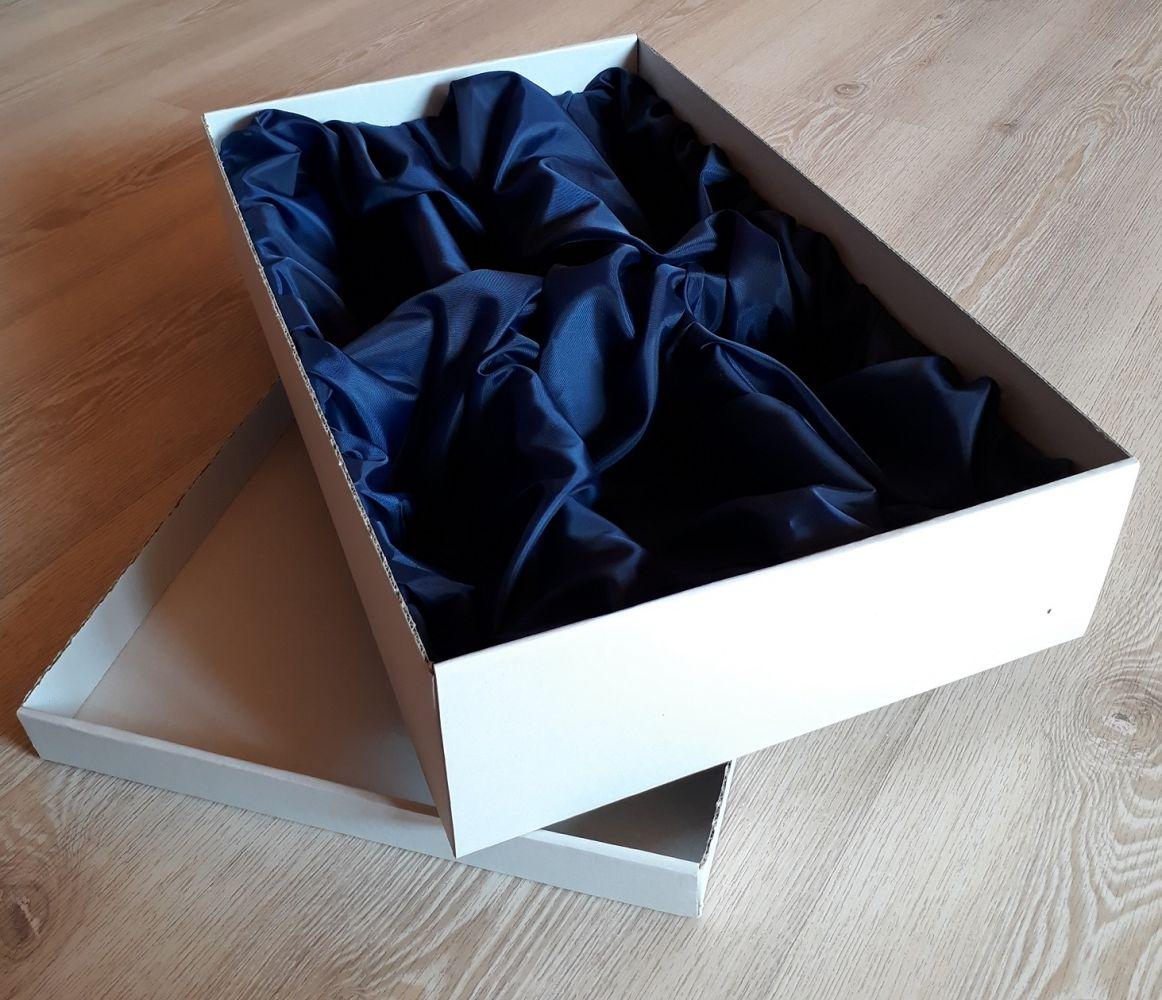 Dárková krabice pro 6ks sklenek se saténem na víno a pivo