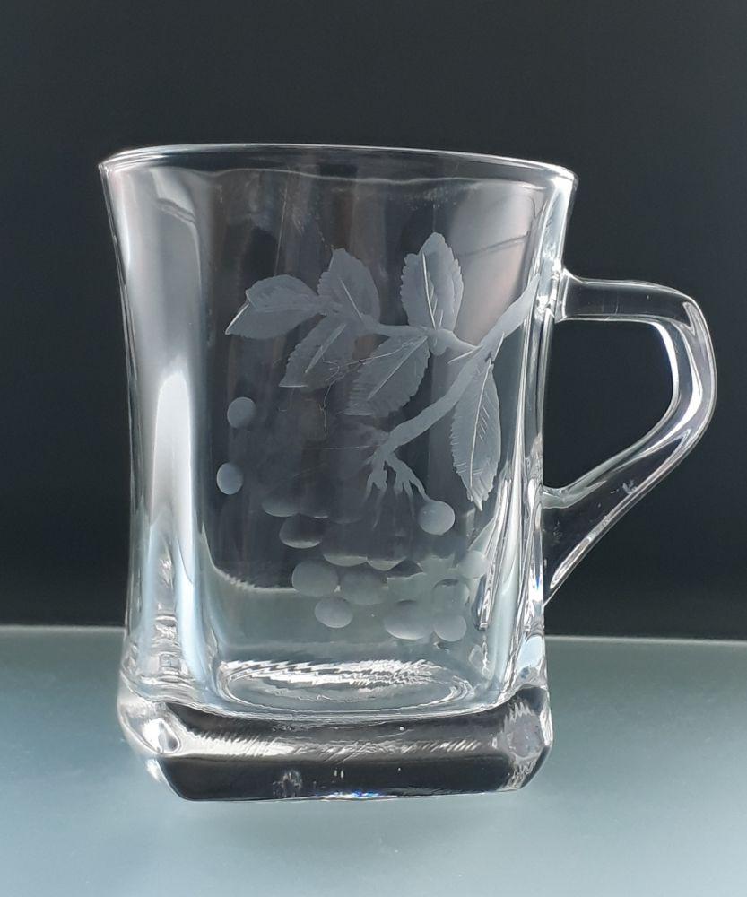 hrnečky na čaj 6ks s rytinou jeřabin, dárek k narozeninám