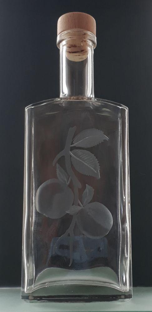 lahev na kalvádos (pálenku) 0,5l s rytinou jablek , dárek pro muže