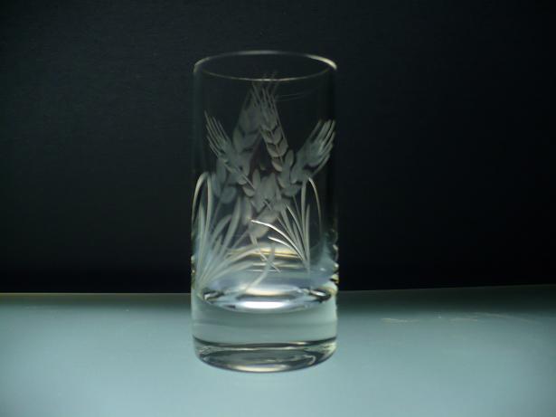 skleničky na slivovici 6ks Barline 50ml,sklenice ručně ryté (broušené) motiv klas,dárek pro tatínka i dědečka