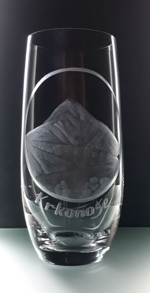 sklenice na pivo Club 350ml se Sněžkou( Krkonošemi ), dárek pro muže