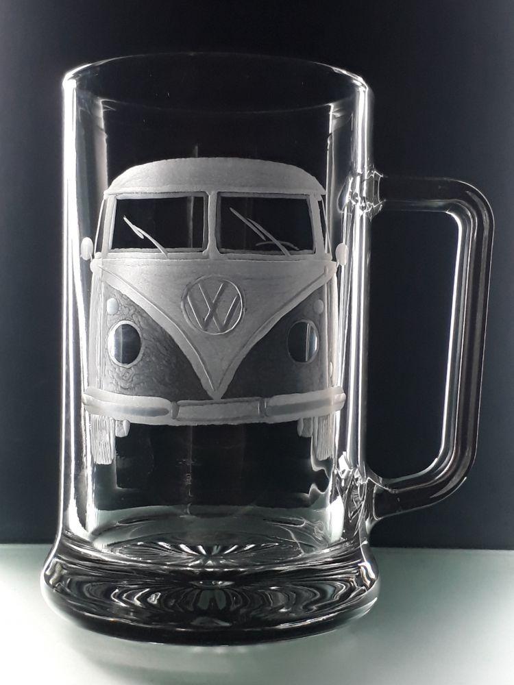 půllitr s rytinou VW Transporter T1 , s vlastním jménem