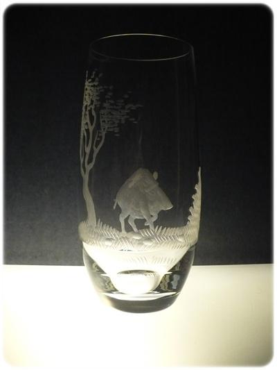 skleničky na pivo 6ks Club 350ml s rytinou myslivostí, dárek pro myslivce