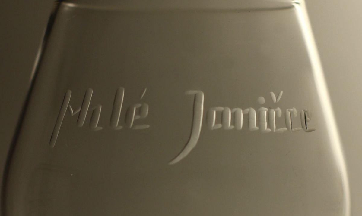 džbán 1,5l + sklenice 2 ks Club 350 ml na pivo, ručně ryté (broušené) motiv bobulí, dárek pro muže