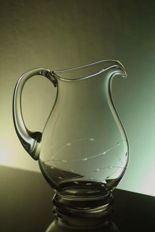 džbán na víno nebo pivo 1,5l ručně rytý (broušený) motiv korale, vhodný dárek pro ženu i muže