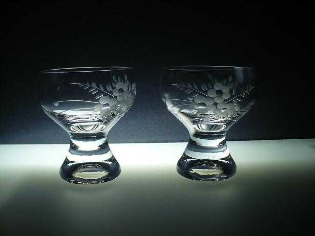 skleničky na sekt 6ks Gina 200 ml misky,sklenice ručně ryté (broušené) motiv květ,dárek pro muže i ženu