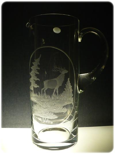 džbán 1,5l s rytinou jelena , dárek pro myslivce