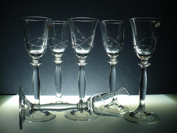 sklenice na likér nebo slivovici 6ks Angela 60ml, skleničky s rytinou korale ,dárek k narozeninám