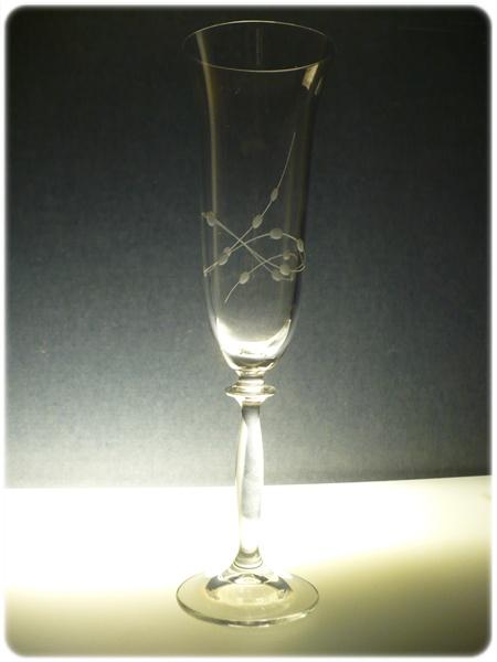 sklenice na sekt 1ks Angela 190ml,sklenička ručně rytá (broušená) motiv korale , dárek pro muže i ženu