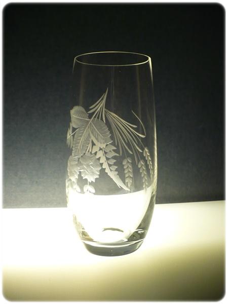 sklenice na pivo 1ks Club 350,sklenička ručně rytá (broušená) motiv chmel, dárek pro muže