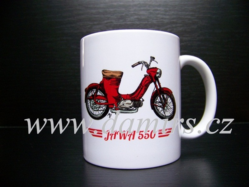 Hrnek s motivem Jawa 550