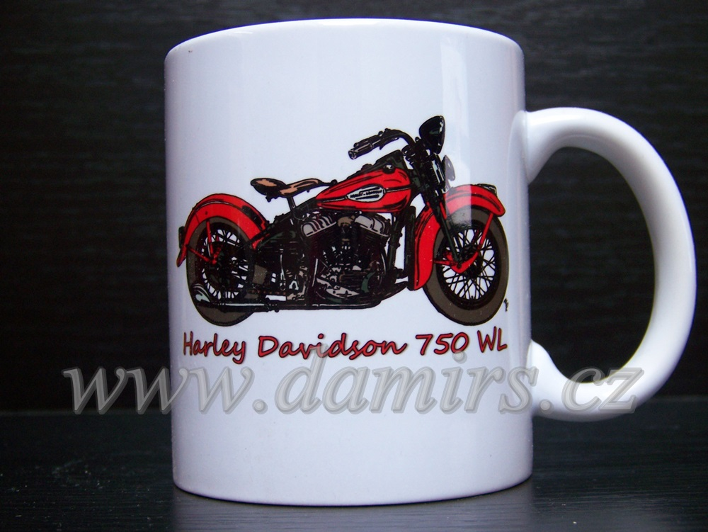 hrnek s motivem Harley Davidson 750 wl