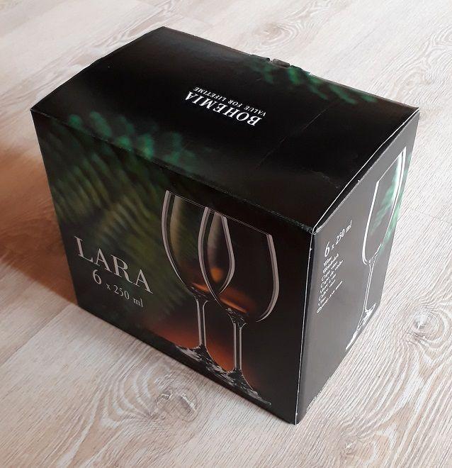 skleničky na víno 6ks Lara 250ml,sklenice s rytinou korale, dárek k narozennám