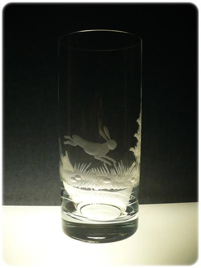 skleničky na pivo 6 ks Barline 300ml,sklenice ručně rytý (broučený) motiv myslivost, dárek pro myslivce