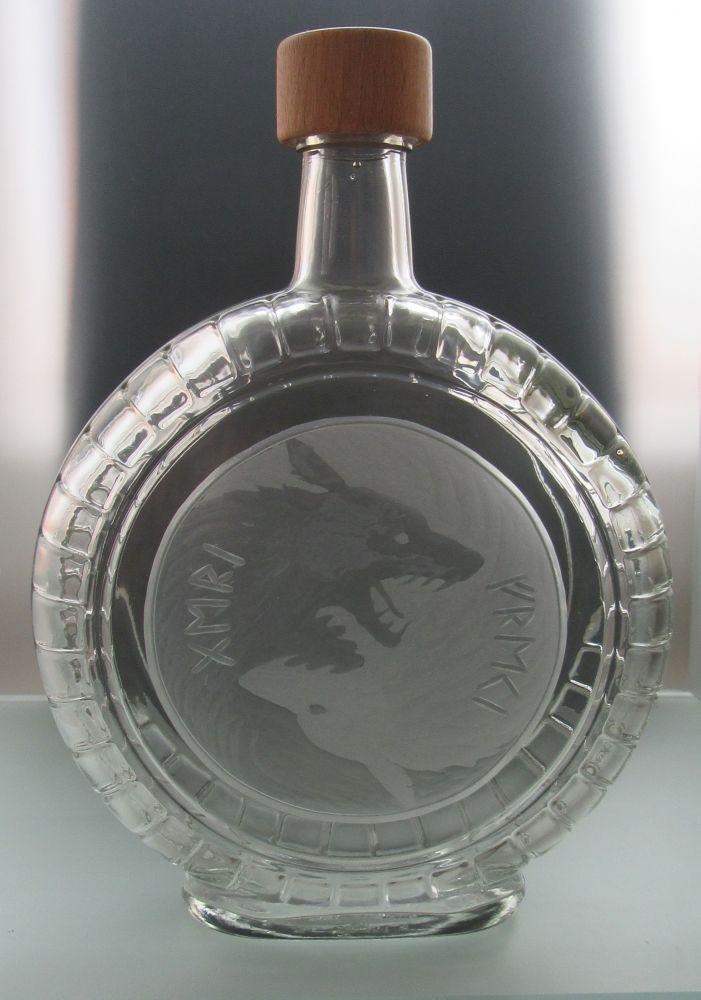 lahev na kořalku 0,7l Geri a Freki (Odinovi vlci)