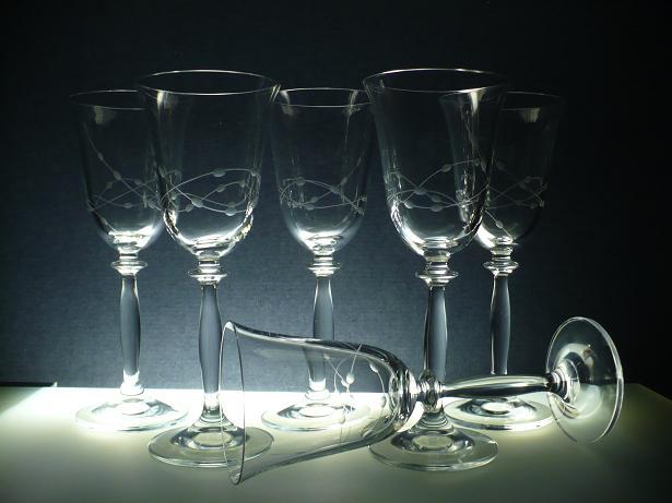 sklenice na víno 6ks Angela 250ml,skleničky ručně ryté (broušené) motiv korale,dárek pro muže i ženu