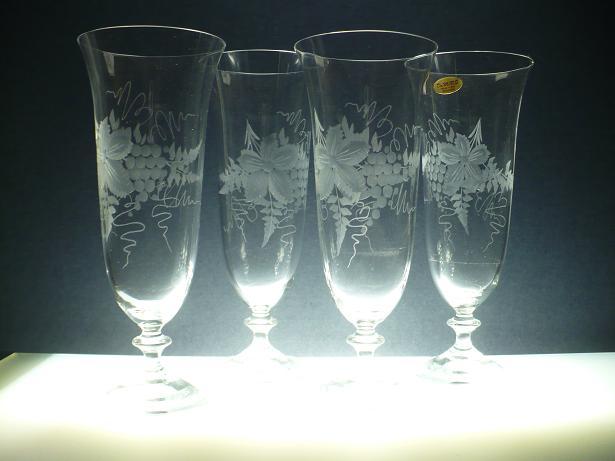 sklenice na vinný střik 6ks angela 360ml,skleničky ručně ryté (broušené) motiv vinný hrozen,dárek pro muže i ženy