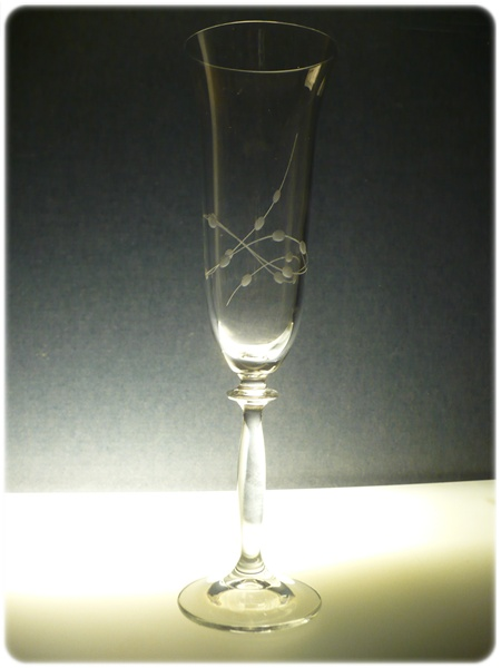 skleničky na sekt 2ks Angela 190ml,sklenice ručně ryté (broušené) motiv korale, dárkové balení