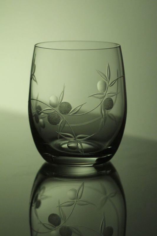 skleničky na whisky 6 ks Club 300 ml,sklenice ručně ryté (broušené) motiv bobule, vhodný dárek pro muže