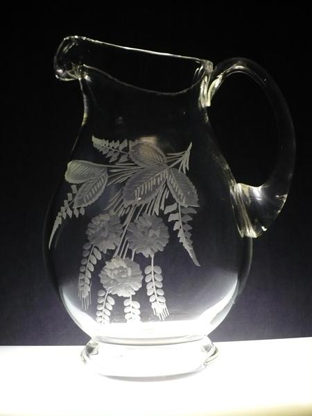 džbán na pivo 1,5l,ručně rytý (broušený) motiv chmel , dárek pro muže