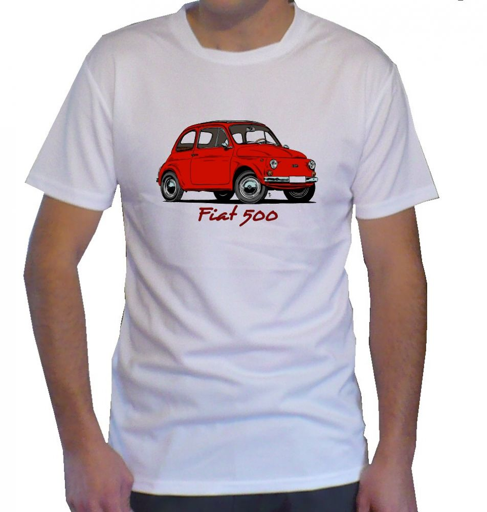 Triko s motivem Fiat 500