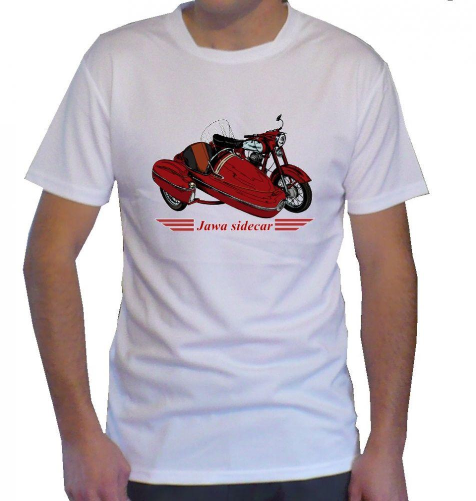 Triko s motivem Jawa sidecar