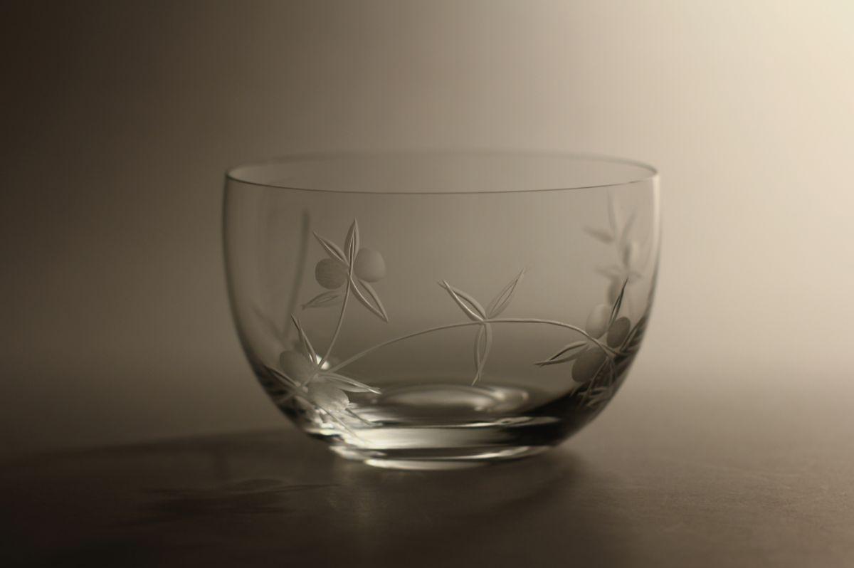 kompotová miska s rytinou bobule,originální luxusní dárek pro ženu