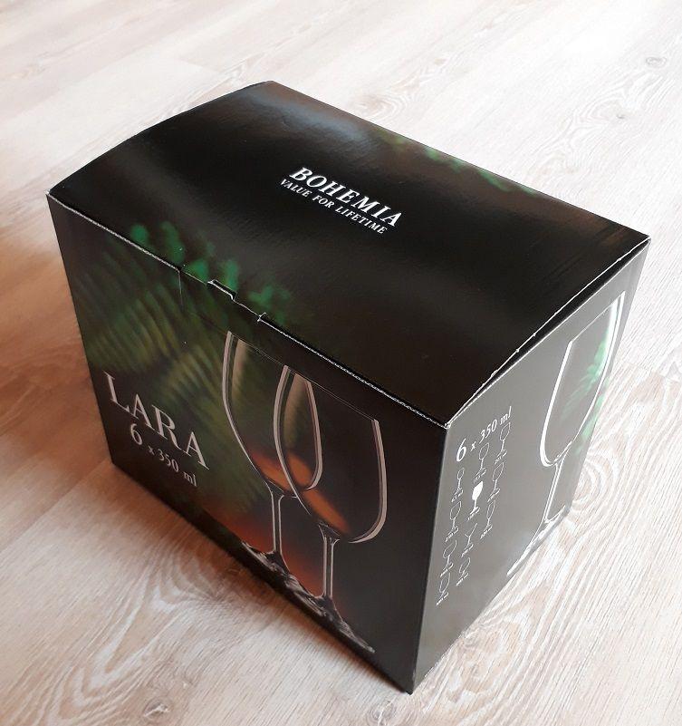 sklenice na víno 6ks Lara 350ml,sklenise s rytinou korale, dárek k narozeninám