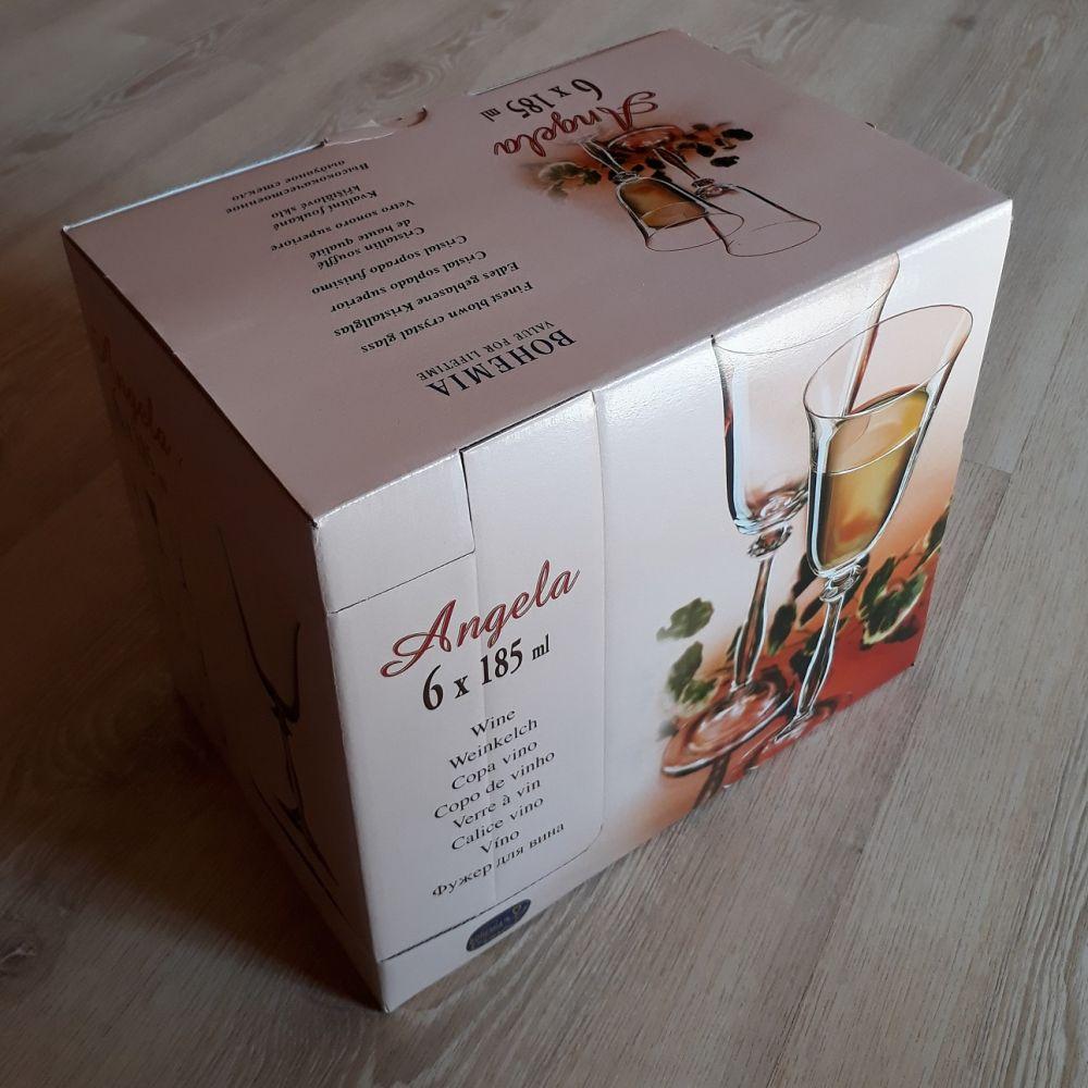 sklenice na víno 6ks angela 185 ml,skleničky s rytinou lístečků, dárek k narozeninám