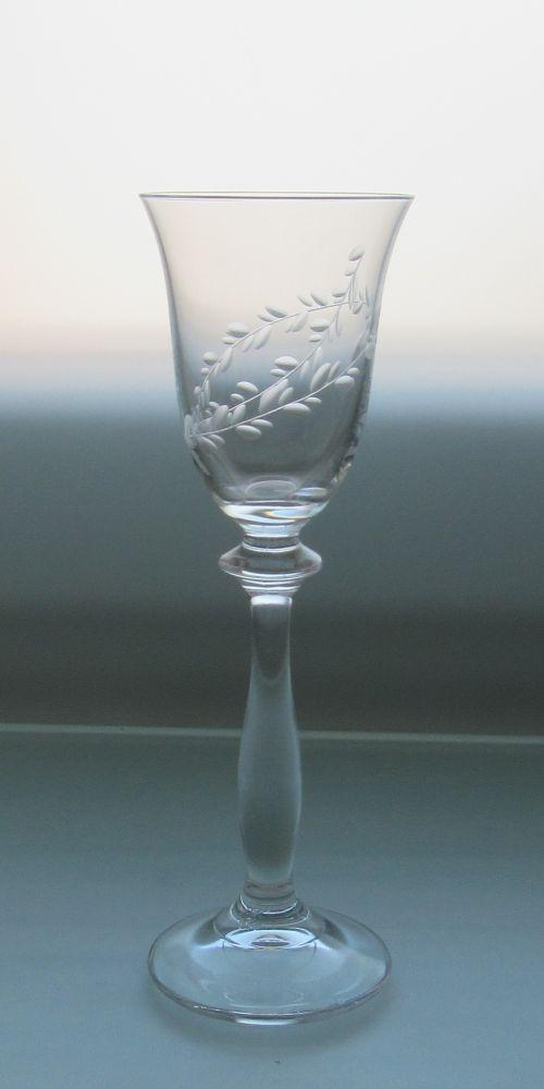 skleničky na likér 6ks Angela 60 ml,sklenice s rytinou lístečků, dárek k narozeninám