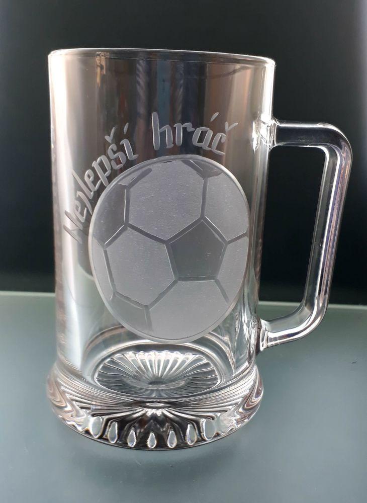 půllitr s fotbalovým míčem , dárek pro fotbalistu