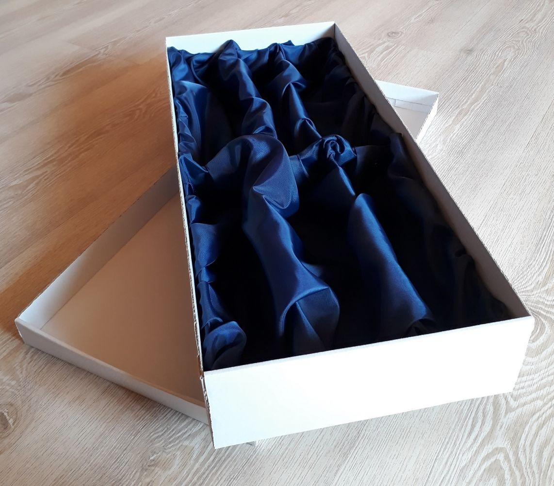 Dárková krabice pro 6ks sklenek se saténem na sekt