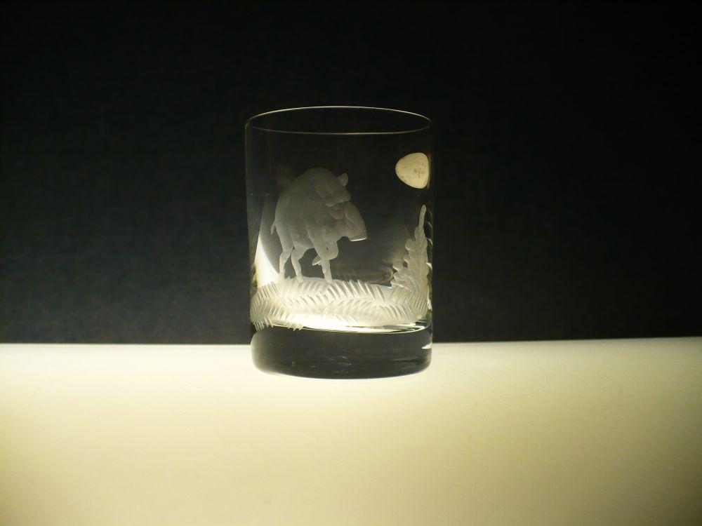 skleničky na likér 6ks Barline 60ml,sklenice s rytinou myslivosti ,dárek pro myslivce