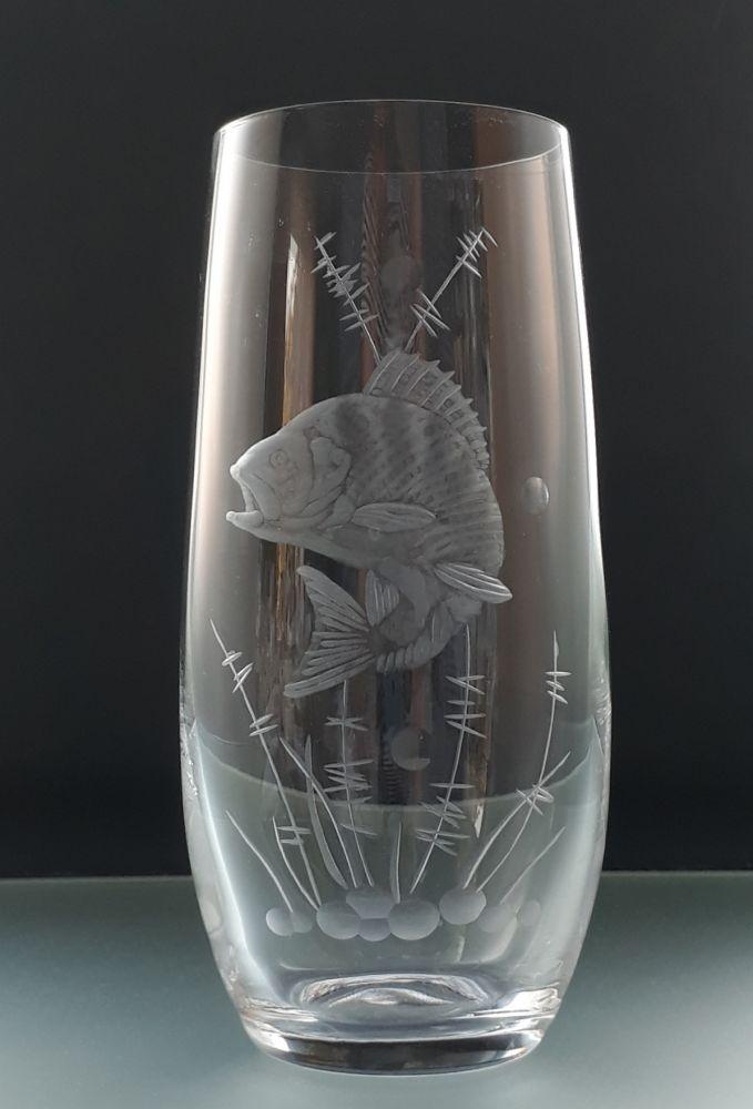 sklenice na pivo 1ks Club 350ml s rytinou okouna, dárek pro rybáře