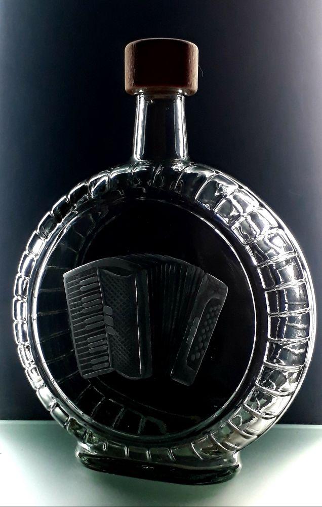 lahev na kořalku 0,7l s tahací harmonika (akordeon) , možnost jména na přání