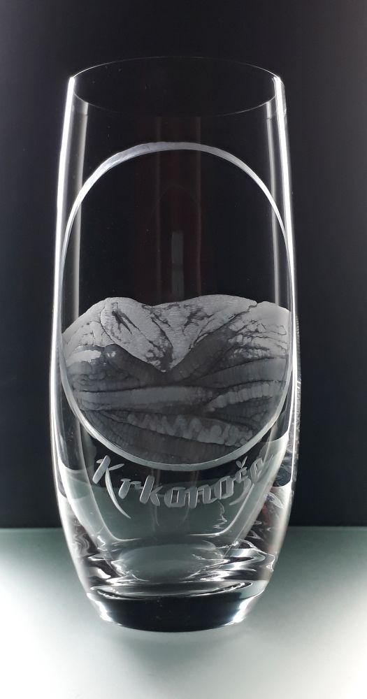 sklenice na pivo Club 350ml s Krkonošemi , dárek pro muže