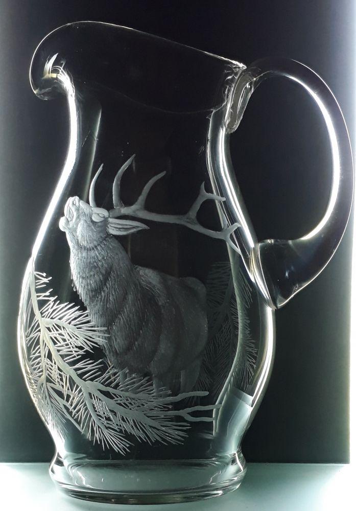 džbán 1,5l s rytinou jelena, dárek pro myslivce