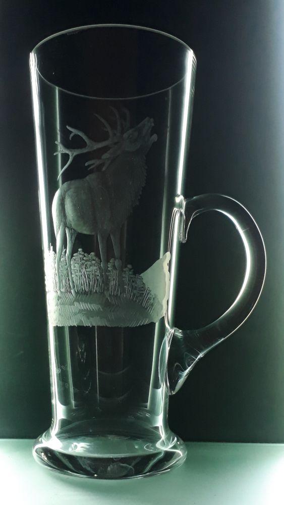 tuplák s rytinou jelena , myslivost, text na přání (nejlepší střelec)