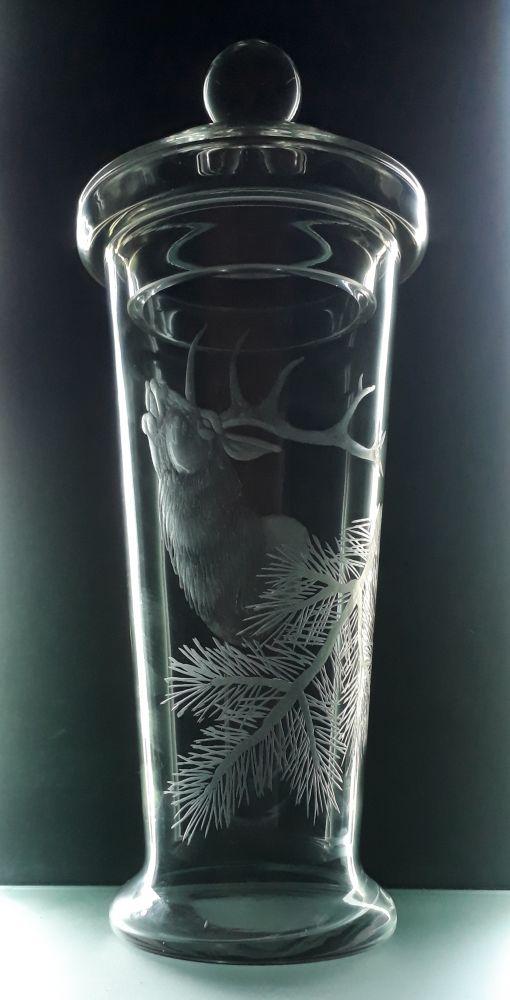 pohár s rytinou jelena , myslivost, text na přání (nejlepší střelec)