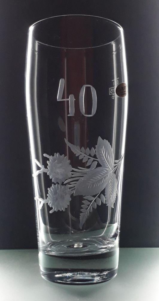 půllitr,štuc s rytinou výročí 40