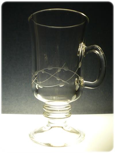 skleničky na kávu 6 ks, venezie 200ml,sklenice ručně ryté (broušené) motiv korale