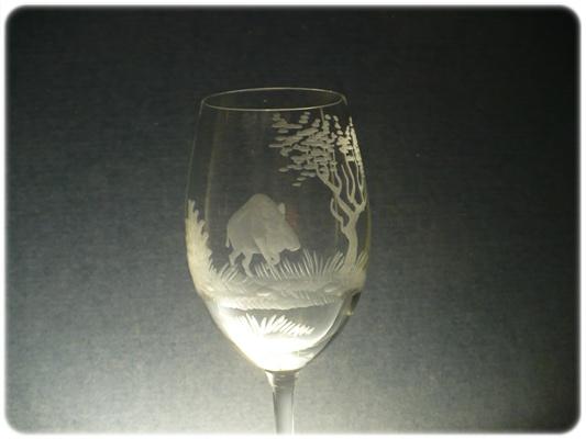 skleničky na víno 6ks Lara 250ml,sklenice s rytinou myslivostí ,dárek pro myslivce